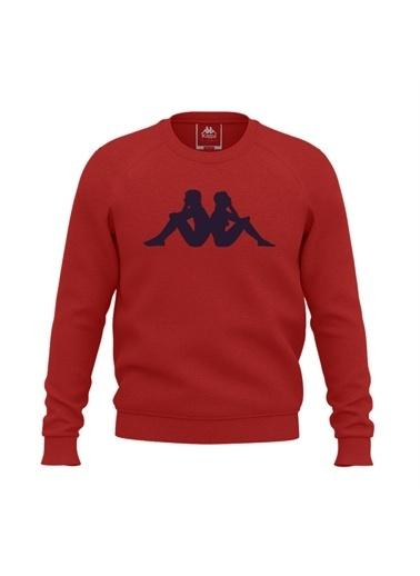 Kappa Baskılı Sw-Shirt Zambov  Kırmızı